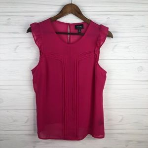 Nicole by Nicole Miller Hot Pink Blouse, Sz M